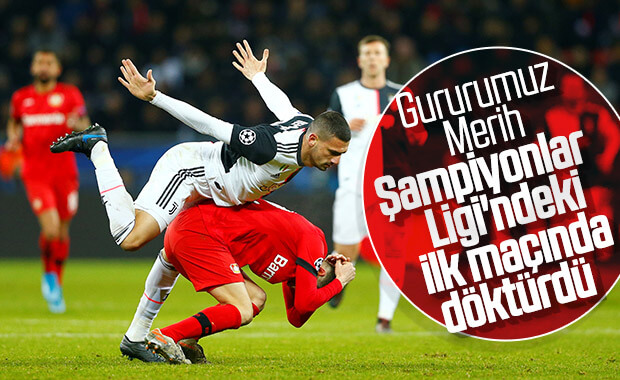 Merih Demiral ilk Şampiyonlar Ligi maçında takdir topladı
