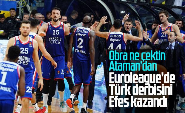 Anadolu Efes deplasmanda Fenerbahçe'yi mağlup etti
