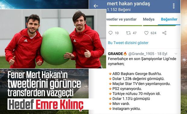Fenerbahçe Hakan'dan vazgeçti Emre'yi istiyor
