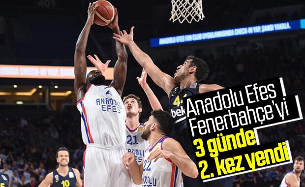 Anadolu Efes, Fenerbahçe'yi ligde de yendi