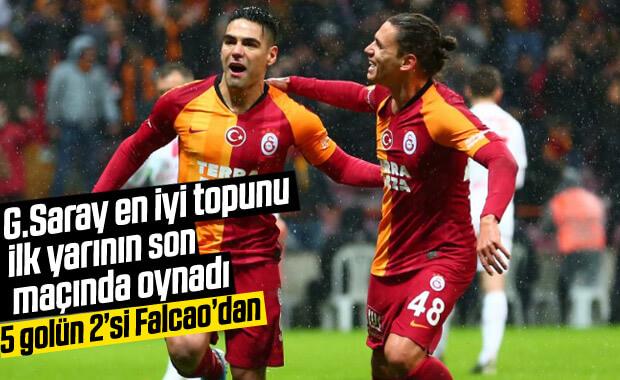 Galatasaray Antalya'ya 5 attı