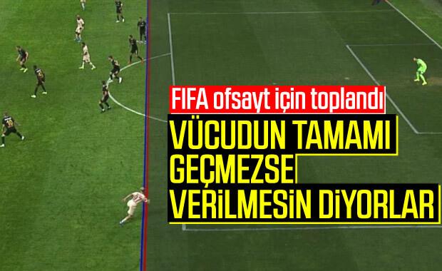 FIFA ofsayt kuralını değiştirmek istiyor