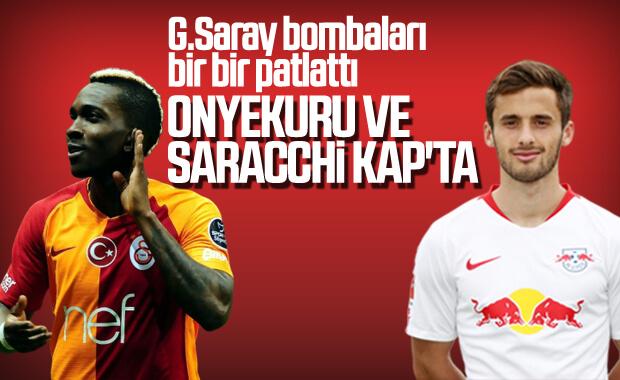 Galatasaray Onyekuru ve Saracchi'yi KAP'a bildirdi