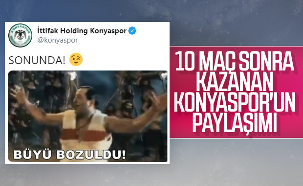 Konyaspor'un galibiyet hasreti bitti