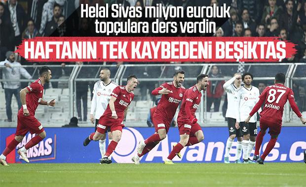 Beşiktaş evinde Sivasspor'a yenildi
