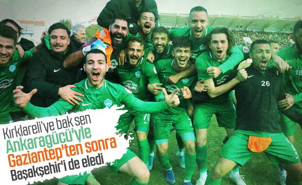 Kırklarelispor, Başakşehir'i kupanın dışına itti