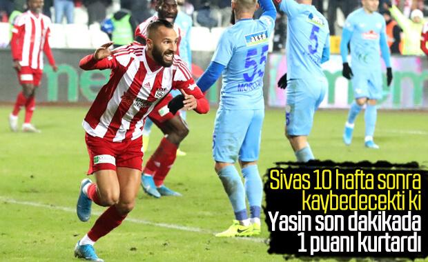 Sivasspor, Rizespor'la puanları paylaştı