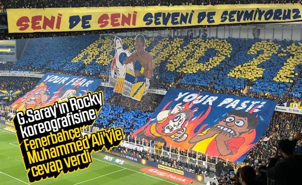 Fenerbahçeli taraftarların derbi koreografisi