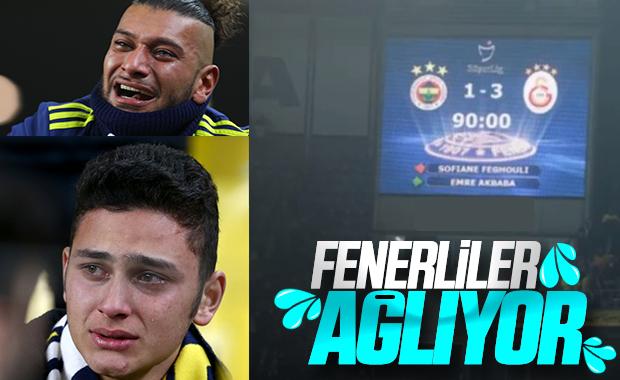 Kadıköy'de ağlayan Fenerbahçeliler