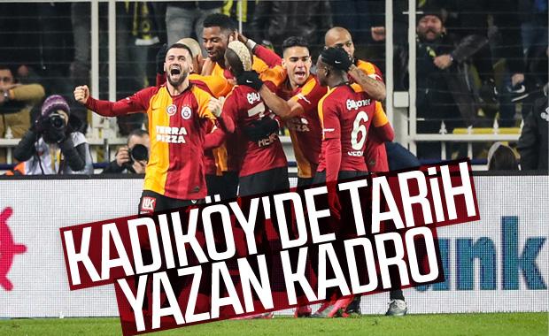 Kadıköy'de kazanan Galatasaray kadrosu