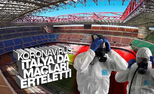Koronavirüs nedeniyle İtalya'da maçlar ertelendi