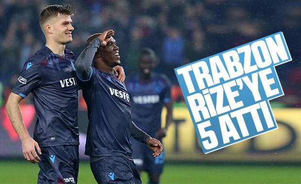 Trabzonspor, Ç.Rizespor'a 5 attı