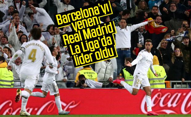 Real Madrid evinde Barcelona'yı mağlup etti