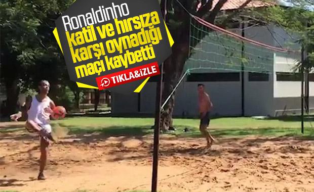 Ronaldinho ayak tenisi maçını kaybetti