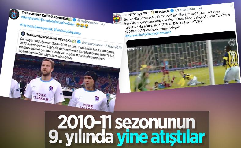 Fenerbahçe ve Trabzonspor'dan 2010-2011 paylaşımları