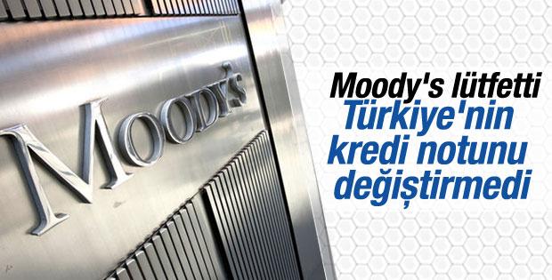Moody's Türkiye'nin kredi notunu değiştirmedi