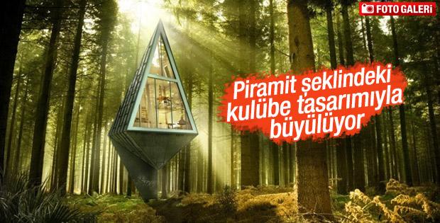 Piramit şeklindeki harika kulübe