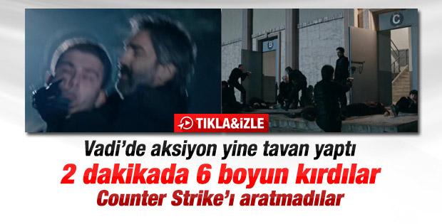 Kurtlar Vadisi Pusu'da Counter Strike sahnesi - İzle