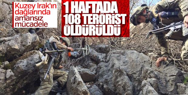 Bir haftada 108 terörist öldürüldü