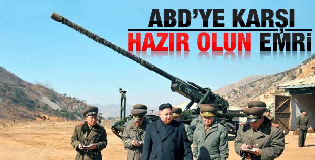 Kuzey Kore'den ABD'ye karşı hazır olun emri