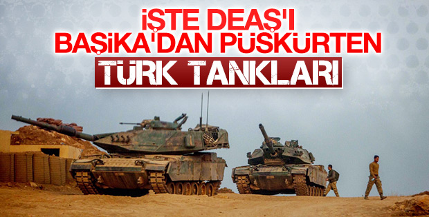 Başika'daki Türk üssünden ilk kareler