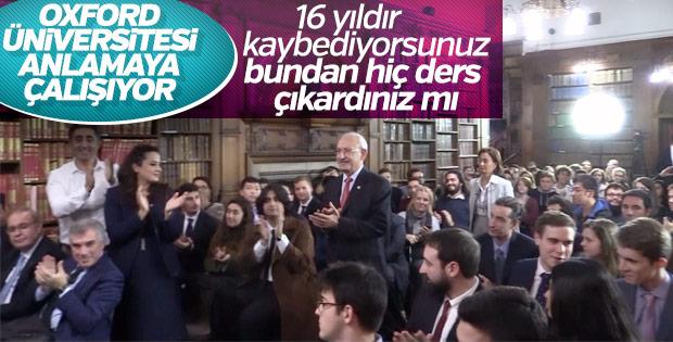 Oxford'da Kemal Kılıçdaroğlu'nun yüzünü düşüren soru