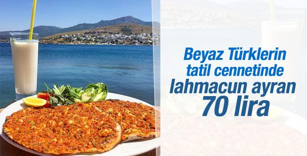 Bodrum menüsü: Lahmacun-ayran 70 lira