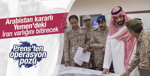 Prens Muhammed bin Salman'dan operasyon pozu
