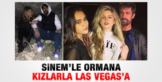 İbrahim Çelikkol Las Vegas'ta Sinem Kobal'ı unuttu