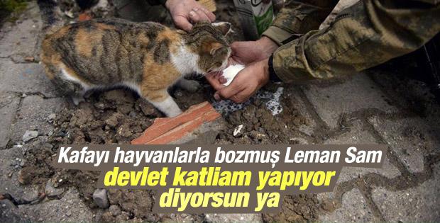 Katil devlet diyen Leman Sam bu fotoğrafı görmedi