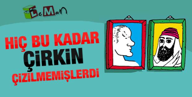 Leman'ın Atatürk ve Hz. Ali karikatürü