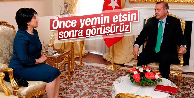 Cumhurbaşkanı Erdoğan'dan Leyla Zana'ya: Önce yemin etsin