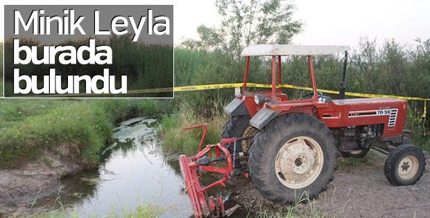 Leyla'nın cansız bedeninin bulunduğu yer
