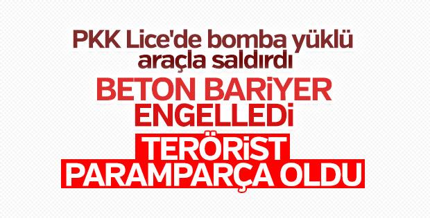 Lice'de bomba yüklü araçla saldırı