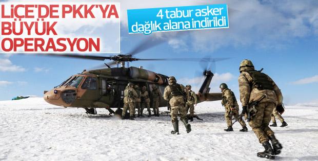 Diyarbakır Lice'de son yılların en büyük operasyonu