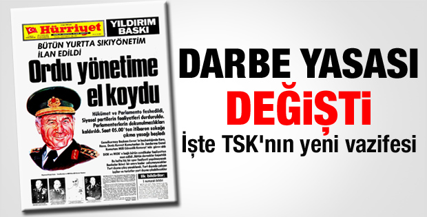 TSK 35. madde değiştirildi