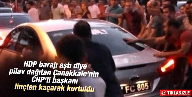 HDP barajı aştı diye pilav dağıtan başkana linç girişimi