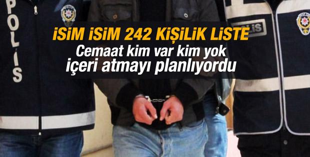 Paralel yapının gözaltına alınacaklar listesi