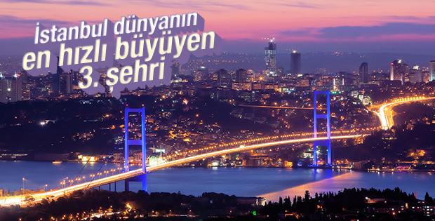 İstanbul dünyanın en hızlı büyüyen 3. şehri
