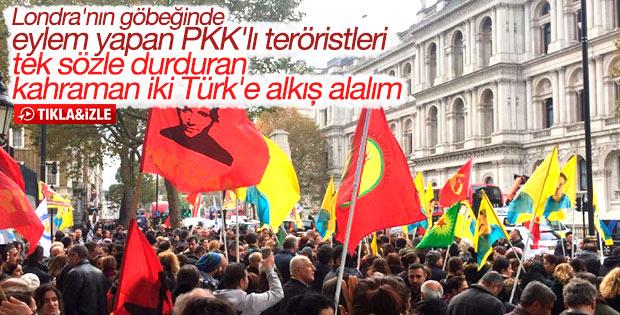 Londra'da PKK yandaşlarını susturan 2 Türk vatandaşı