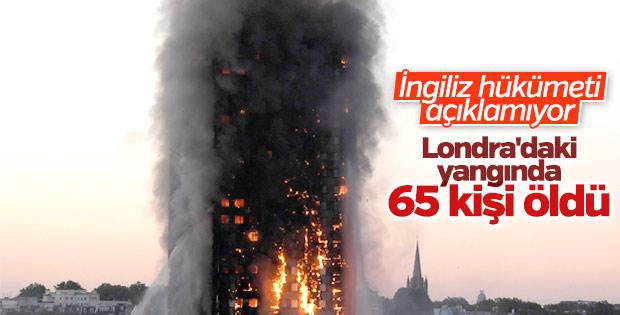 İngiliz gazetesi: Yangında 65 kişi öldü