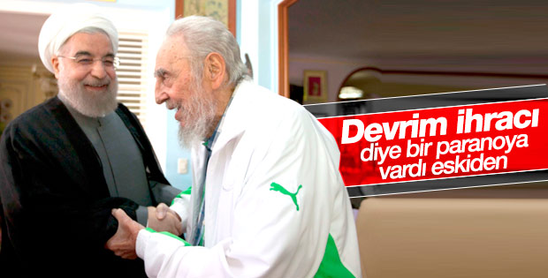 Ruhani Fidel Castro'yla görüştü