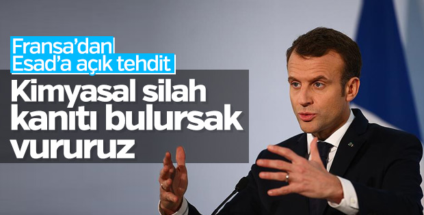 Fransa'dan Esad'a vururuz tehdidi