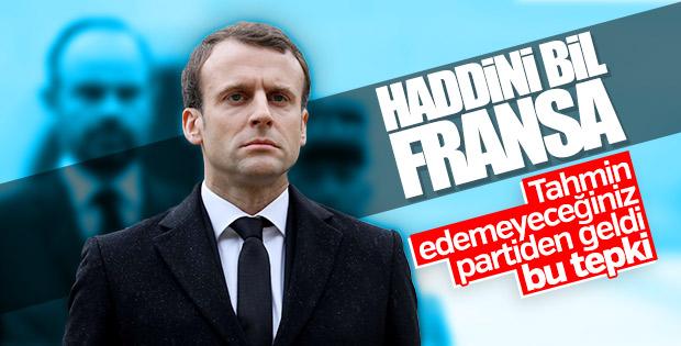 CHP'den Fransa'ya: Haddini bil