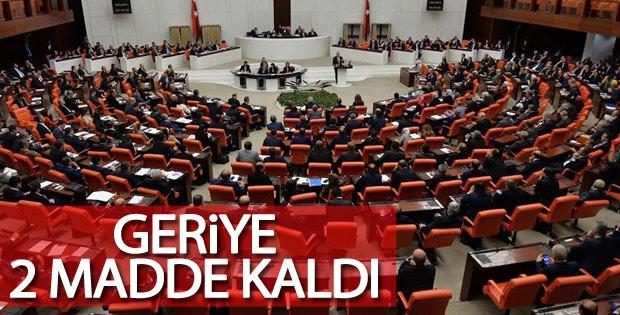 Anayasa değişiklik teklifinde 16. madde kabul edildi