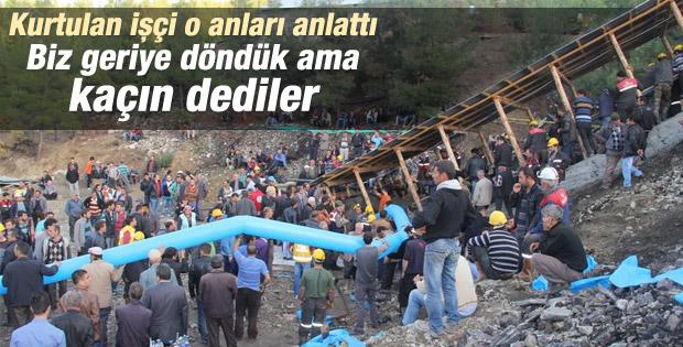 Karaman'daki madenden kurtulan işçi konuştu