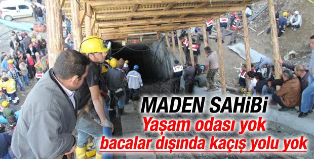 Karaman'daki madenin sahibi: Yaşam odası yok