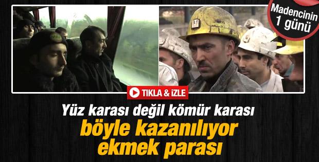 Madencinin bir günü nasıl geçiyor - İzle