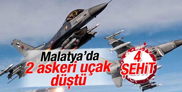 Malatya'da 2 askeri eğitim uçağı düştü