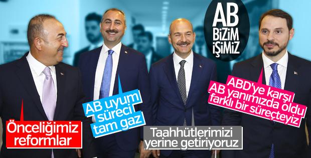 AB Reform Grubu Bakanlarının önemli mesajları